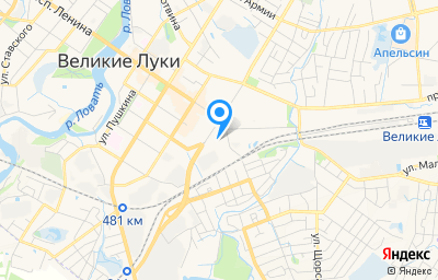 Местоположение на карте пункта техосмотра по адресу Псковская обл, г Великие Луки, ул Дьяконова, д 2А