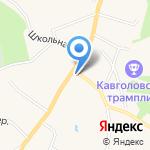 Шапито на карте Санкт-Петербурга