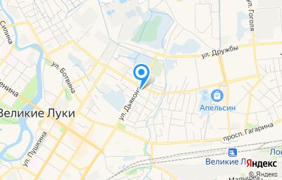 Местоположение на карте пункта техосмотра по адресу Псковская обл, г Великие Луки, ул 3 Ударной Армии, д 5/48