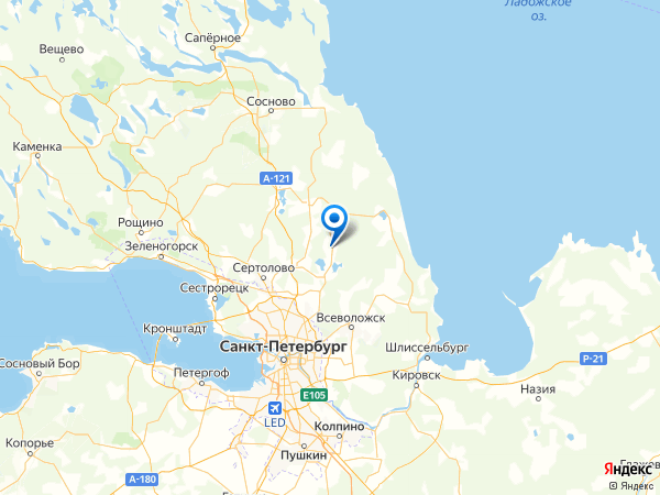 СНТ Дивное-1 на карте