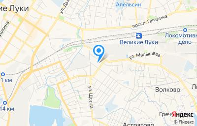 Местоположение на карте пункта техосмотра по адресу Псковская обл, г Великие Луки, ул Заслонова, д 21/2А