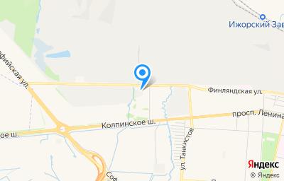 Местоположение на карте пункта техосмотра по адресу г Санкт-Петербург, г Колпино, ул Финляндская, д 30 к 1 стр 2