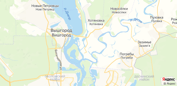 Осещина на карте