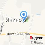 Янинский каскад 2 на карте Санкт-Петербурга