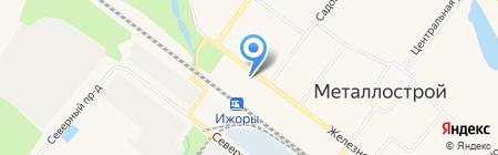 Шиномонтажная мастерская на Железнодорожной (Металлострой) на карте Санкт-Петербурга