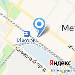 Ижоры на карте Санкт-Петербурга