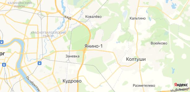 Янино 1 на карте