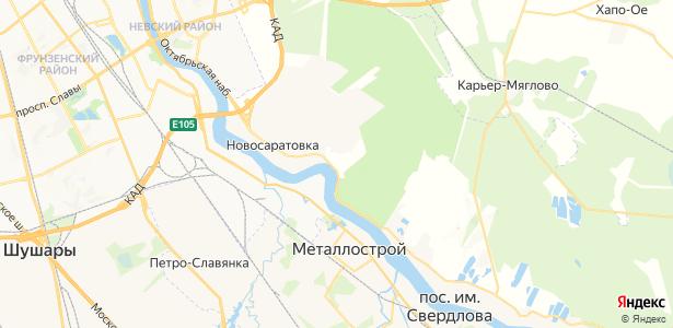 Красная Заря на карте