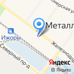 Строймаркет на карте Санкт-Петербурга