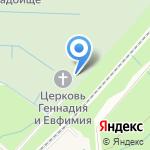Ковалёвское кладбище на карте Санкт-Петербурга