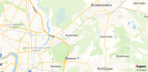 Ковалёво на карте