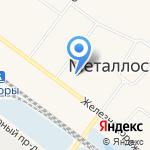 Эстрин на карте Санкт-Петербурга