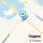 Магазин мяса и молока на карте Санкт-Петербурга
