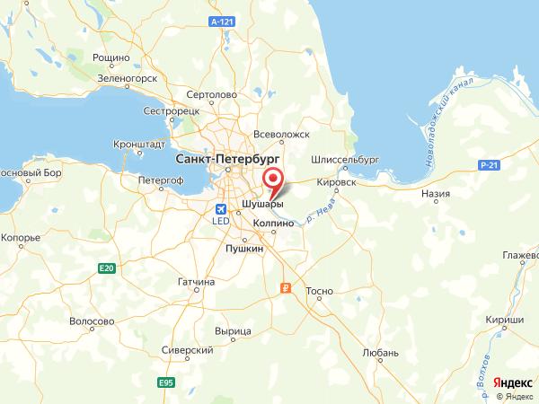 поселок Красная Заря на карте