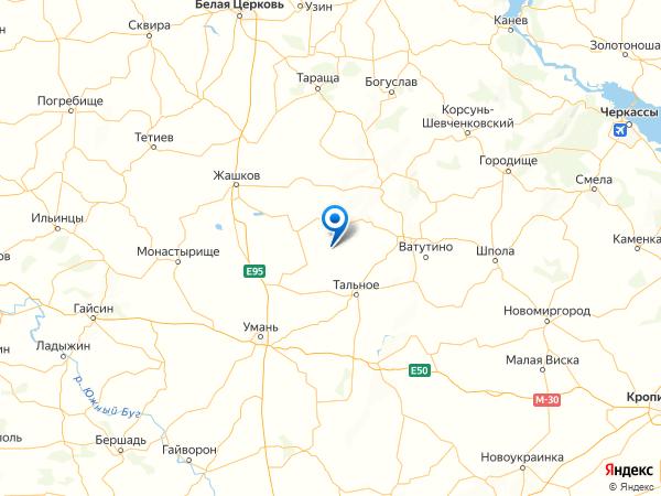 село Лесовое на карте