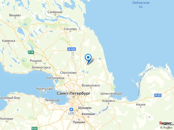 СНТ Озерное на карте