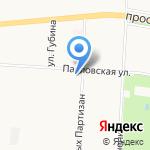 Студия загара на карте Санкт-Петербурга