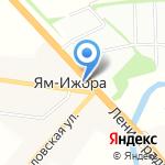 Магазин хлебобулочных изделий на карте Санкт-Петербурга