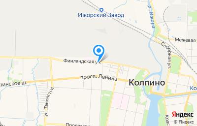 Местоположение на карте пункта техосмотра по адресу г Санкт-Петербург, г Колпино, ул Братьев Радченко, д 3 литер б