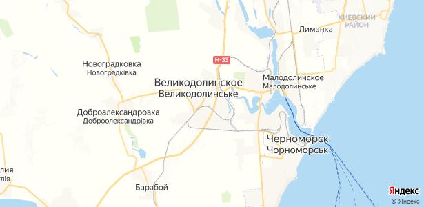 Великодолинское на карте