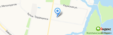 Линия Красоты на карте Санкт-Петербурга