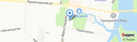 Фабрика окон на карте Санкт-Петербурга