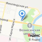 Кокос на карте Санкт-Петербурга