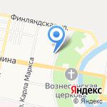 Питермаркет на карте Санкт-Петербурга