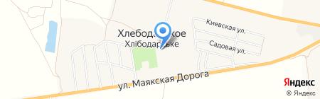 Хлебодарское производственное управление жилищно-коммунального хозяйства на карте Хлебодарского