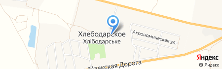 Корм-Сервис на карте Хлебодарского