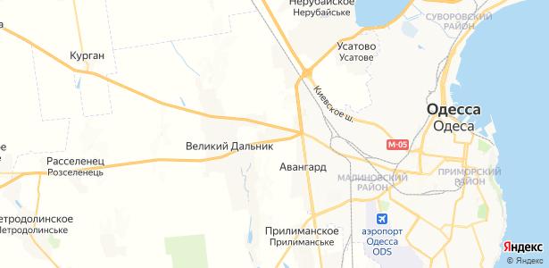 Хлебодарское на карте