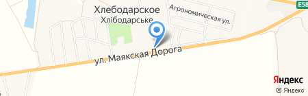 Киоск по продаже фруктов и овощей на карте Хлебодарского
