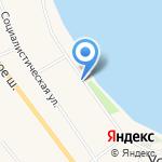 Невский берег на карте Санкт-Петербурга