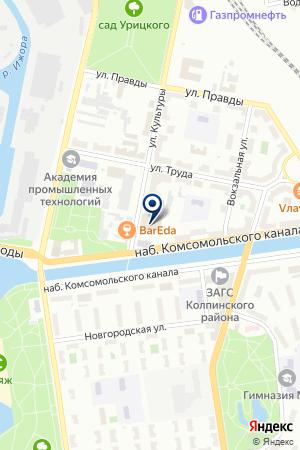 СТРОИТЕЛЬНАЯ КОМПАНИЯ СЕВЕРНАЯ КОРОНА на карте Колпино