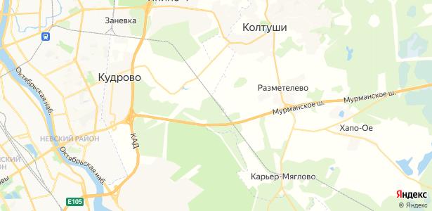 Мяглово на карте