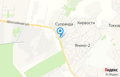 Местоположение на карте пункта техосмотра по адресу Ленинградская обл, Всеволожский р-н, д Суоранда