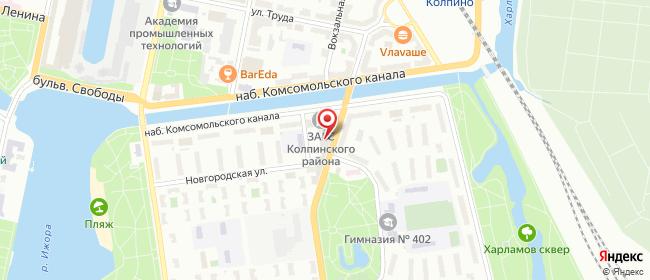 Карта расположения пункта доставки Lamoda/Pick-up в городе Колпино