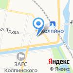 Уютная на карте Санкт-Петербурга
