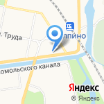 Колпинское на карте Санкт-Петербурга