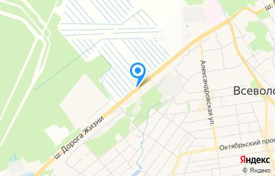 Местоположение на карте пункта техосмотра по адресу Ленинградская обл, г Всеволожск, ш Дорога Жизни