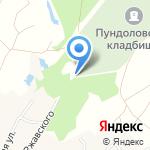Пундоловское кладбище на карте Санкт-Петербурга