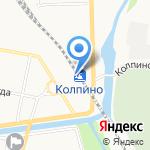 Колпино на карте Санкт-Петербурга