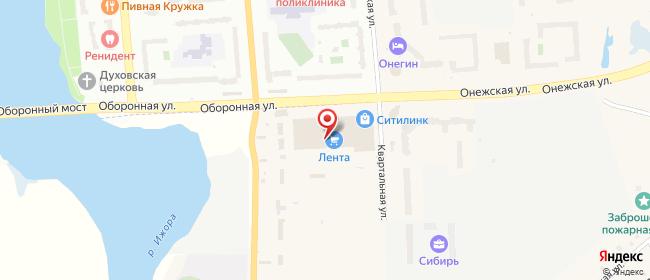 Карта расположения пункта доставки СИТИЛИНК в городе Тельмана