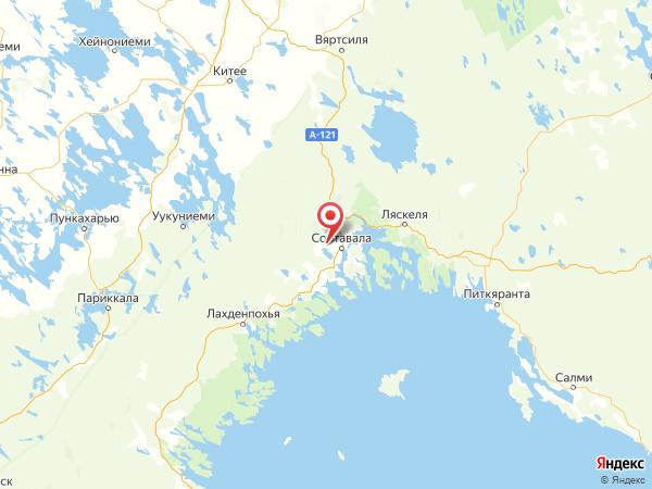 посёлок Заозёрный на карте