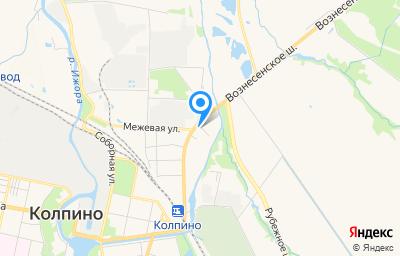 Местоположение на карте пункта техосмотра по адресу г Санкт-Петербург, г Колпино, пер Межевой, д 3 литер а