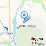 Ветеринарная станция Колпинского и Пушкинского районов на карте Санкт-Петербурга