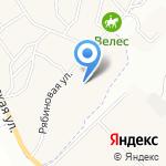 Рябиновый сад на карте Санкт-Петербурга