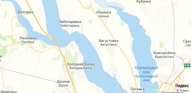 Черевичное на карте