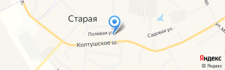 Автостоянка на Верхней на карте Старой