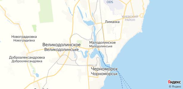 Малодолинское на карте